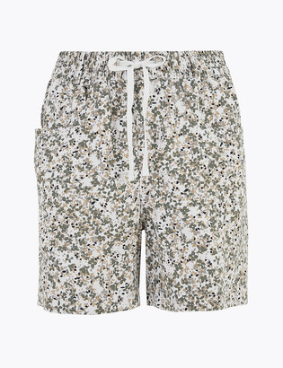 Marks and Spencer Linen Rich Floral Shorts