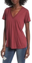 Lush Women's Raw Edge Side Slit Tee