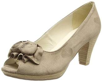 BEIGE Hirschkogel Women's 0733109 Open-Toe Heels, Taupe 066 066), 5 UK