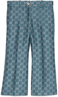 Gucci Children's light GG lame trousers