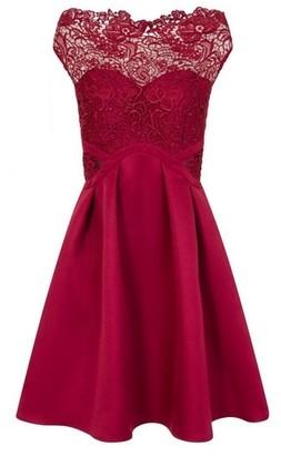 Dorothy Perkins Womens **Little Mistress Berry Cap Sleeve Skater Dress