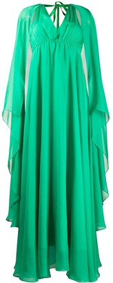 Pinko Ruffle Flared Maxi Dress