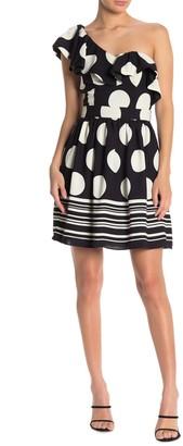 Do & Be Polka Dot One Shoulder Dress