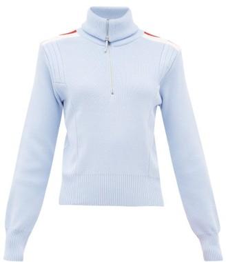 Cordova High-neck Ribbed-knit Wool Sweater - Light Blue