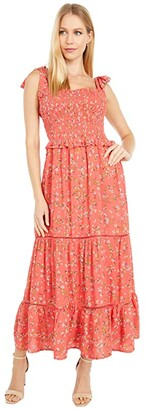 Lost + Wander Everyday Adventures Maxi Dress (Red/Orange Coral Floral Multi) Women's Dress