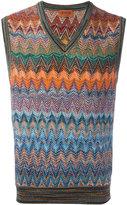 Missoni zigzag tank - men - Cotton/Linen/Flax/Polyamide/Rayon - 50