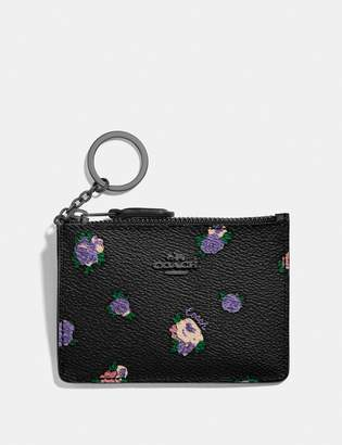 Coach Mini Skinny Id Case With Vintage Rosebud Print
