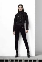 J Brand Iselin Corduroy Zip Skinny in Black
