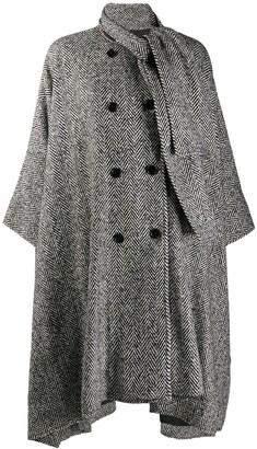 MSGM Draped fit cape coat