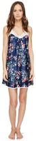 Oscar de la Renta Floral Print Silky Charmeuse 33 Chemise Women's Pajama