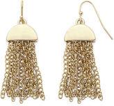 Liz Claiborne Gold-Tone Half-Moon Tassel Drop Earrings