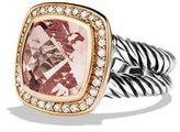 David Yurman Albion Ring with Morganite, Diamonds, and Rose Gold