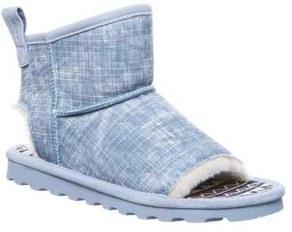 BearPaw Molly Suede Faux Fur Trim Slipper Boot
