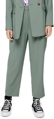 Topshop Pleated Cigarette Trousers