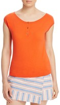 Tory Burch Sydney Cap Sleeve Cashmere Sweater