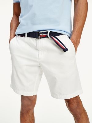 Tommy Hilfiger Brooklyn Lightweight Twill Belted Shorts