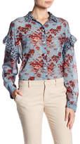 Robert Rodriguez Ruffle Oversized Silk Shirt
