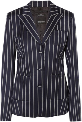 Rokh Striped Wool And Cotton-blend Blazer