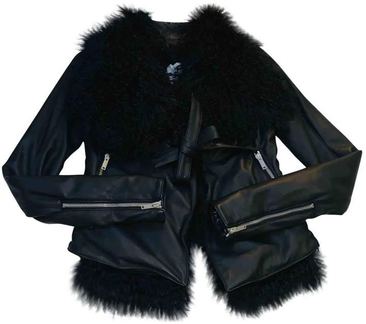 Gareth Pugh Beige Fur Leather Jacket for Women