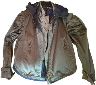 Ermanno Scervino Green Polyester Leather jackets