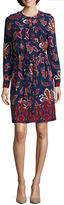 Liz Claiborne Long Sleeve Shirt Dress-Talls