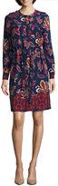 Liz Claiborne Long Sleeve Shirt Dress-Talls