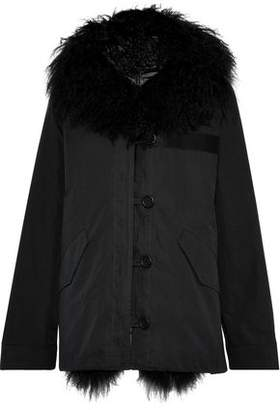 Yves Salomon Shearling-lined Cotton-blend Canvas Hooded Parka