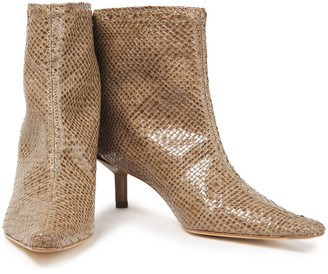 Miista Shelly Woven Leather Ankle Boots