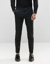 Asos Slim Suit Pants In Tonal Stripe