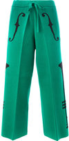 Undercover intarsia knit trousers - women - Cotton/Acrylic - 1