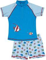 Playshoes Boy's UV Sun Protection 2 Piece Fish Swim Shorts,7 Years (Manufacturer Size:122/128 (7-8 Years))