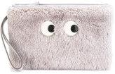 Anya Hindmarch cartoon eyes clutch - women - Goat Skin/Lambs Wool - One Size