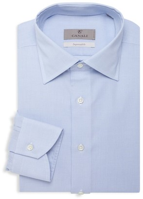 Canali Micro Print Dress Shirt