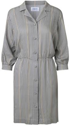 Libertine-Libertine Yellow Stripe Capture Blouse Dress - S - Yellow/Blue/White