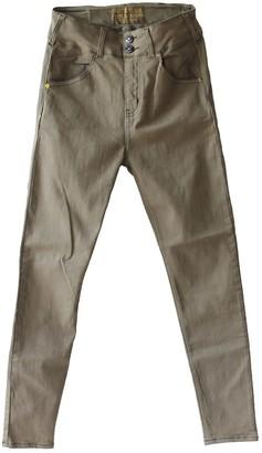 Tri Colour Federation Organic Cotton Terra Khaki High Waisted Slim Fit Jean