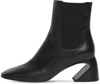 Jil Sander 65mm Leather Ankle Boots