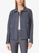 Michael Kors Cropped Indigo Twill Jacket