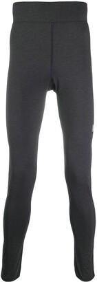 Acne Studios zip-cuff Face patch leggings