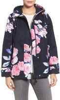 Joules Women's Right As Rain Print Waterproof Hooded Jacket