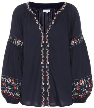 Velvet Carina embroidered blouse