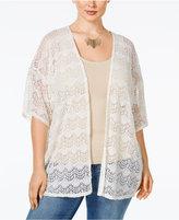 ING Trendy Plus Size Lace Kimono Cardigan