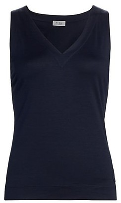 Akris Punto V-Neck Knit Shell Top