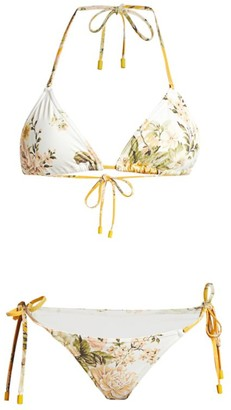 Zimmermann Amelie Two-Piece Floral Triangle Bikini Set