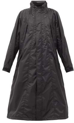 Issey Miyake Parachute Hooded Raincoat - Womens - Black