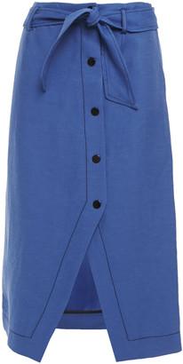 Sandro Debyh Belted Slub Woven Skirt