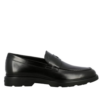 Hogan Smooth Leather Loafer With Rubber Sole