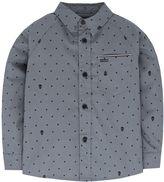Hurley Toddler Boy Raglan Patterned Button-Down Shirt