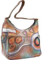 Anuschka Hobo with Side Pockets- Abstract Classic