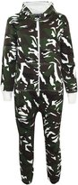 A2Z 4 kids Kids Girls Boys Onesie Fleece Camouflage Print All In One Jumpsuit New Age 7