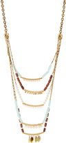Lydell NYC Golden Five-Row Mixed-Media Necklace